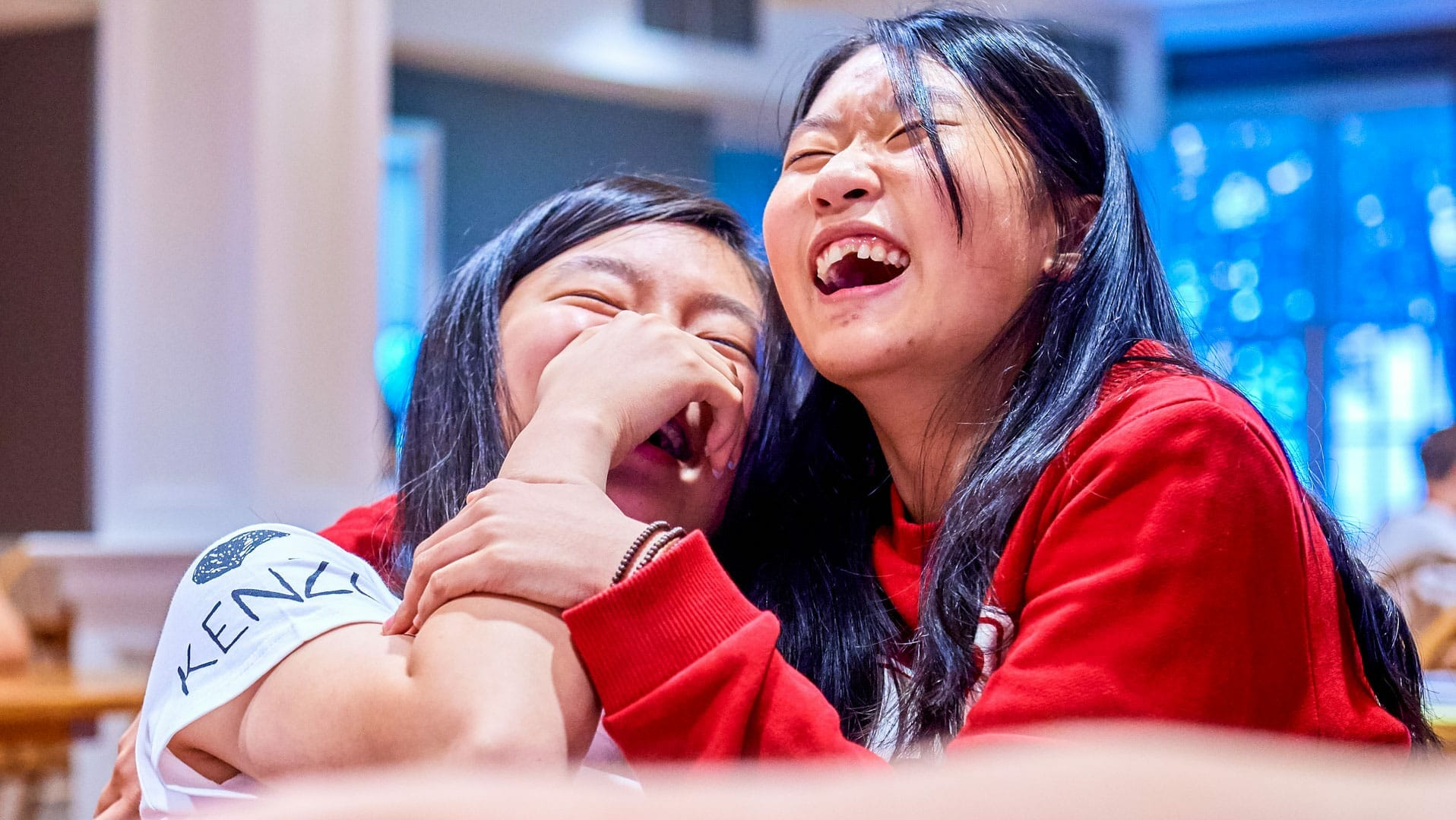 Two girls in the English Language Institute
